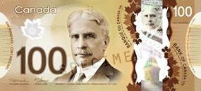 Image of Canadian $100 bill